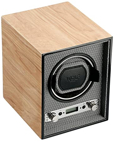 amazon com wolf 453828 meridian single watch winder blonde wolf