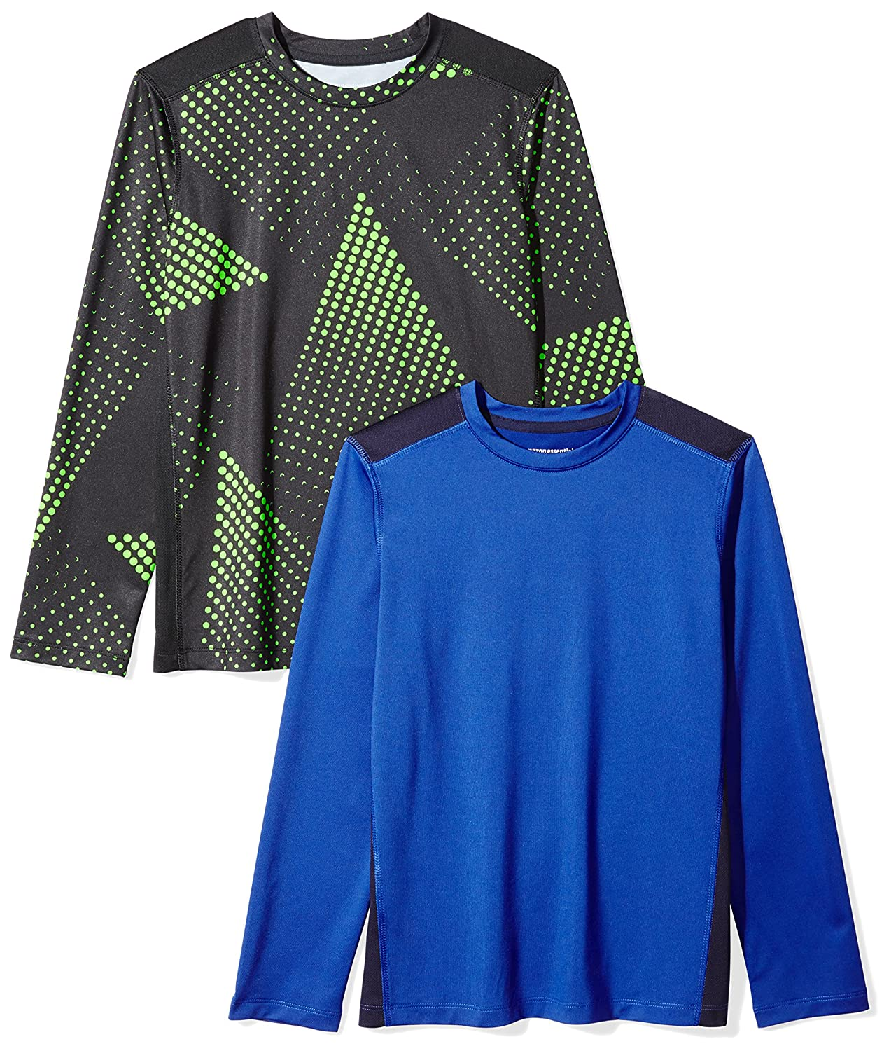 Amazon Essentials Boys Boys' 2-Pack Long-Sleeve Pieced Active Tee BAE45097FL18