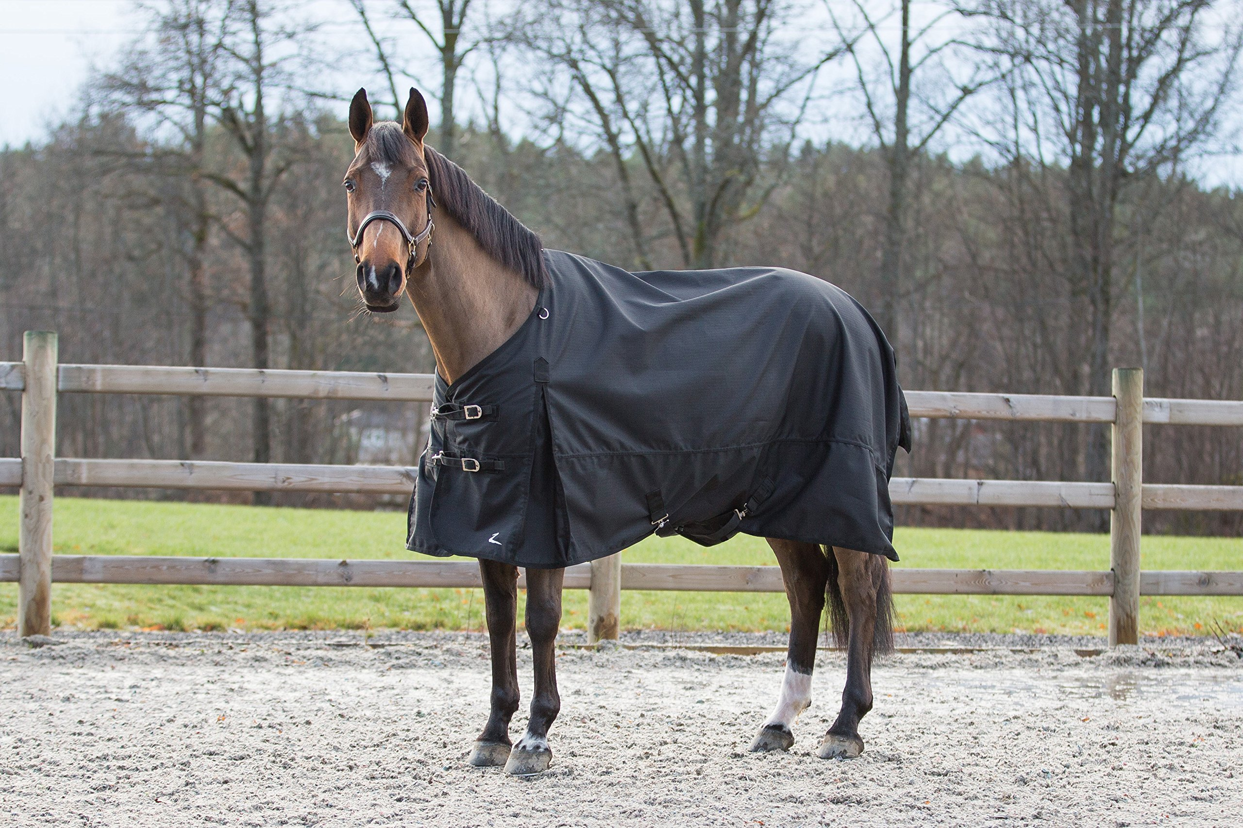 Horze Nevada 1200D Waterproof Turnout Sheet - Black - Size: 84