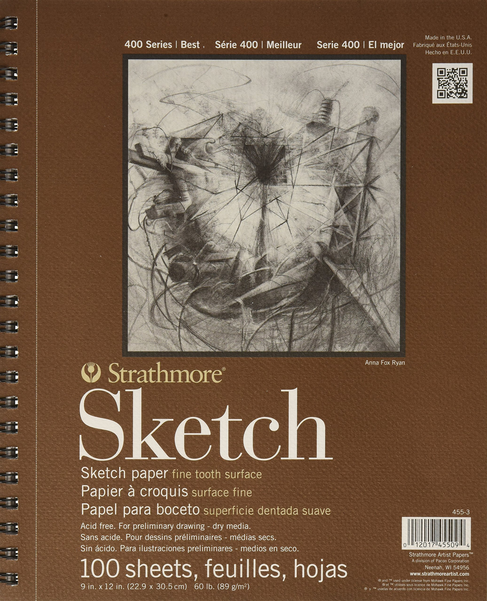 Strathmore Series 400 Sketch Pads 9 In. X 12 In. - 2 pack - 100 Pgs Each by Strathmore