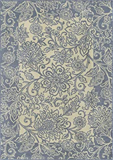 product image for Maples Rugs Adeline Area Rugs for Living Room & Bedroom [Made in USA], 5 x 7, Blue