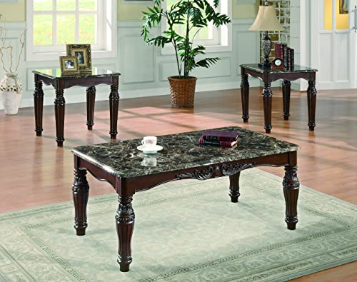 Home Square 2 Piece Coffee Table and Charger End Table Set in White