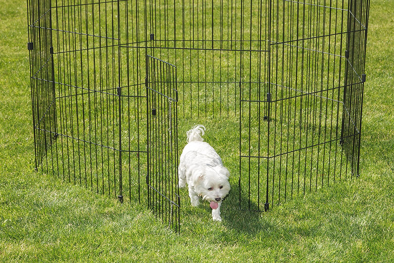 Iris Ohyama Wire Pet Circle 36-Inch Black US PKG