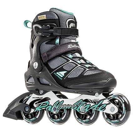 1e931f2cdb0 Rollerblade Macroblade 80 Alu 16 All Purpose Skate, Black/Light Green, US  Size