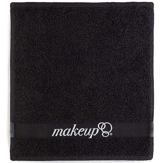 FabbPro - Juego de 6 Toallas de Maquillaje para Eliminar Ropa, Hechas en Turquía, algodón Ultra Suave, Color Negro Chic - Hermoso diseño - Suave y Seguro en ...