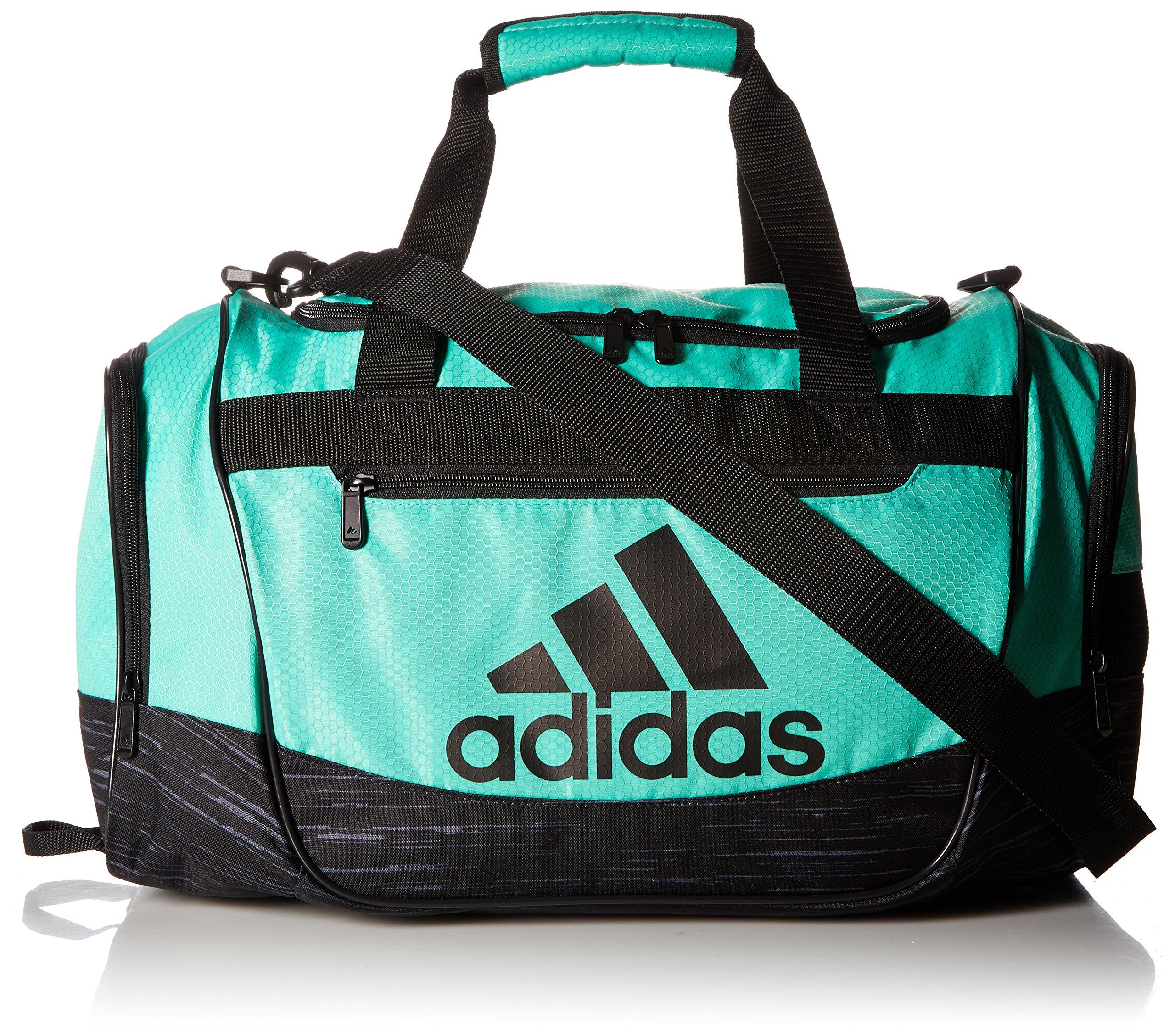 adidas Defender III Duffel Bag (Small, Hi-Res Green/Black/Black Looper)