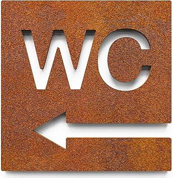 Autoadhesivo Retro WC con flecha Vintage W.03.R Cartel de WC W.03.R