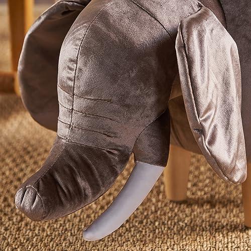 Christopher Knight Home Dark Taupe Velvet Elephant Ottoman