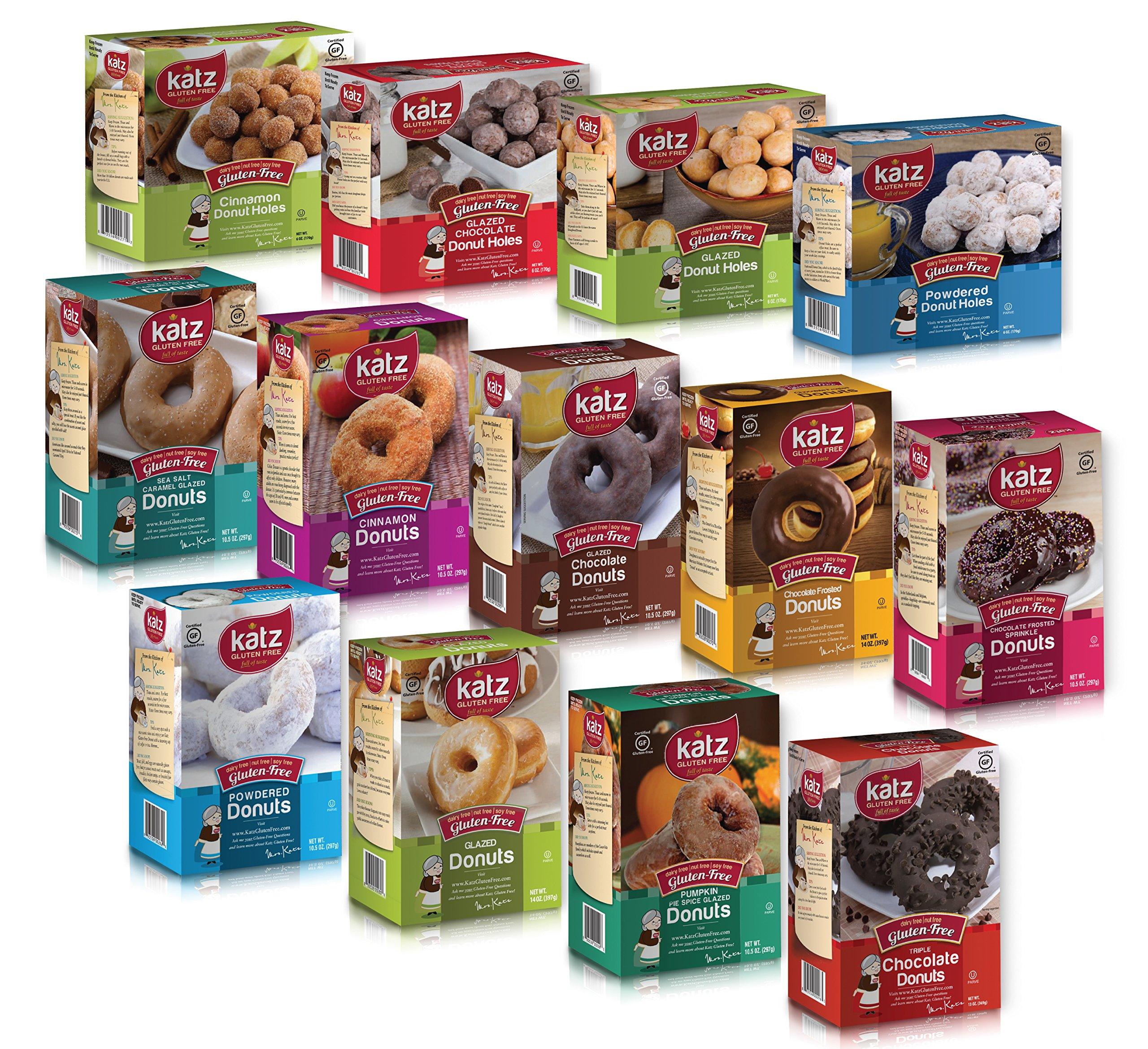 Katz Gluten Free Donut Variety Pack, 8.16 Pounds, (Pack Of 13)