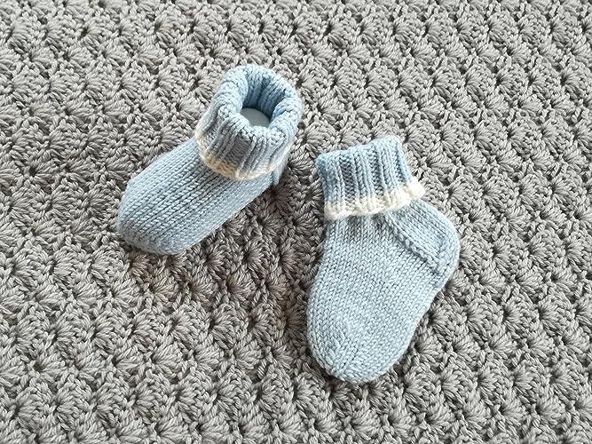Babysöckchen Babyschuhe Taufe Handgestrickt 0 3 Monate