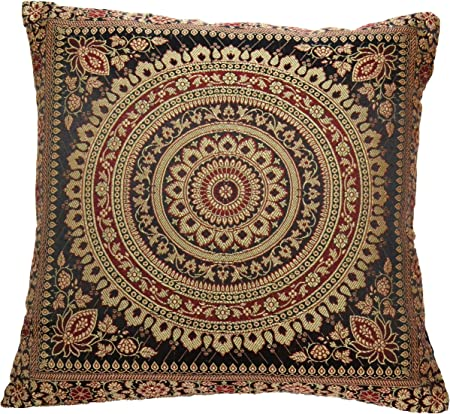 Mandala Cushion Covers IMPROVED STITCHING Antique Style Banarasi Indien 38cm
