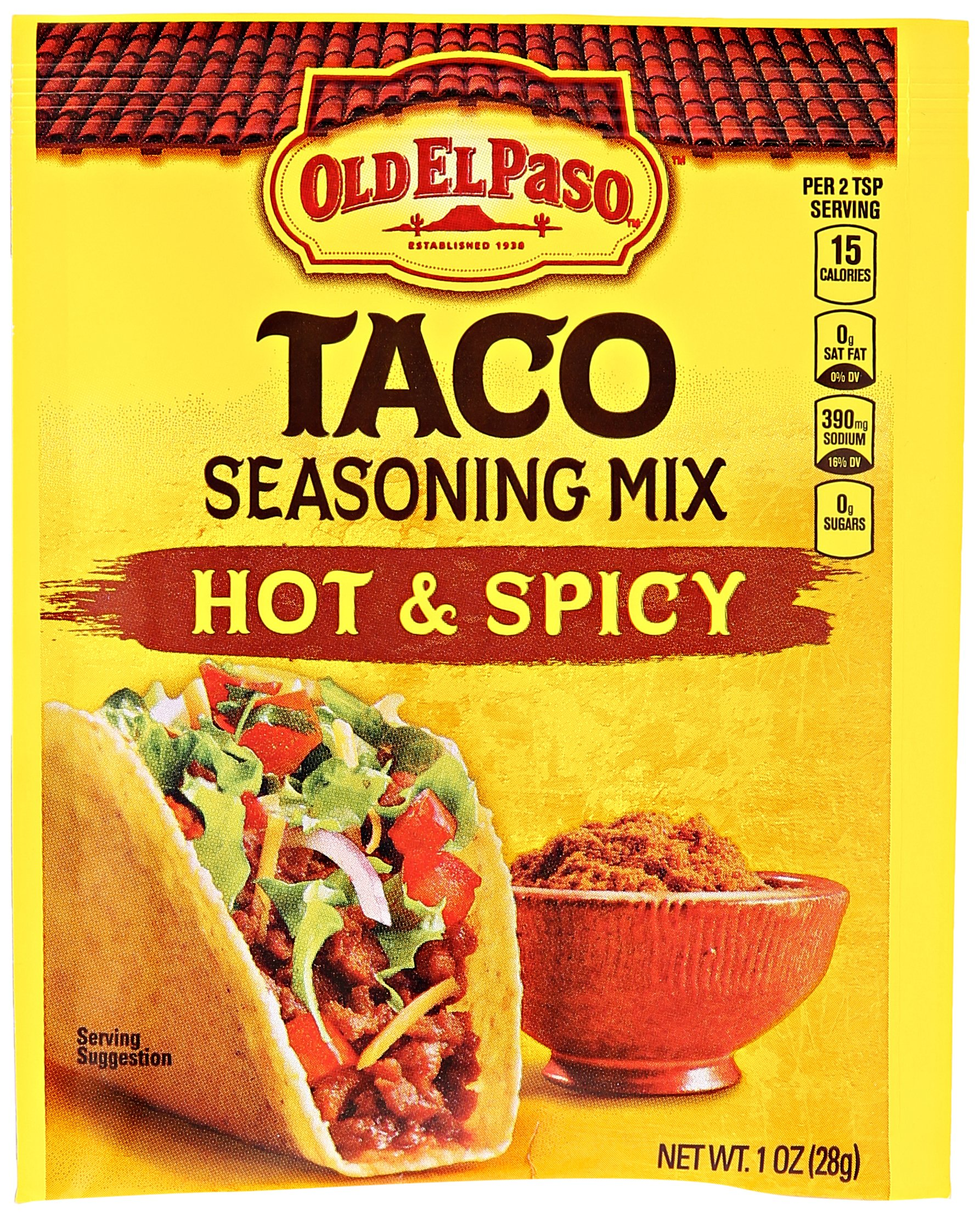 Old El Paso Hot & Spicy Taco Seasoning Mix 1 oz. Packet