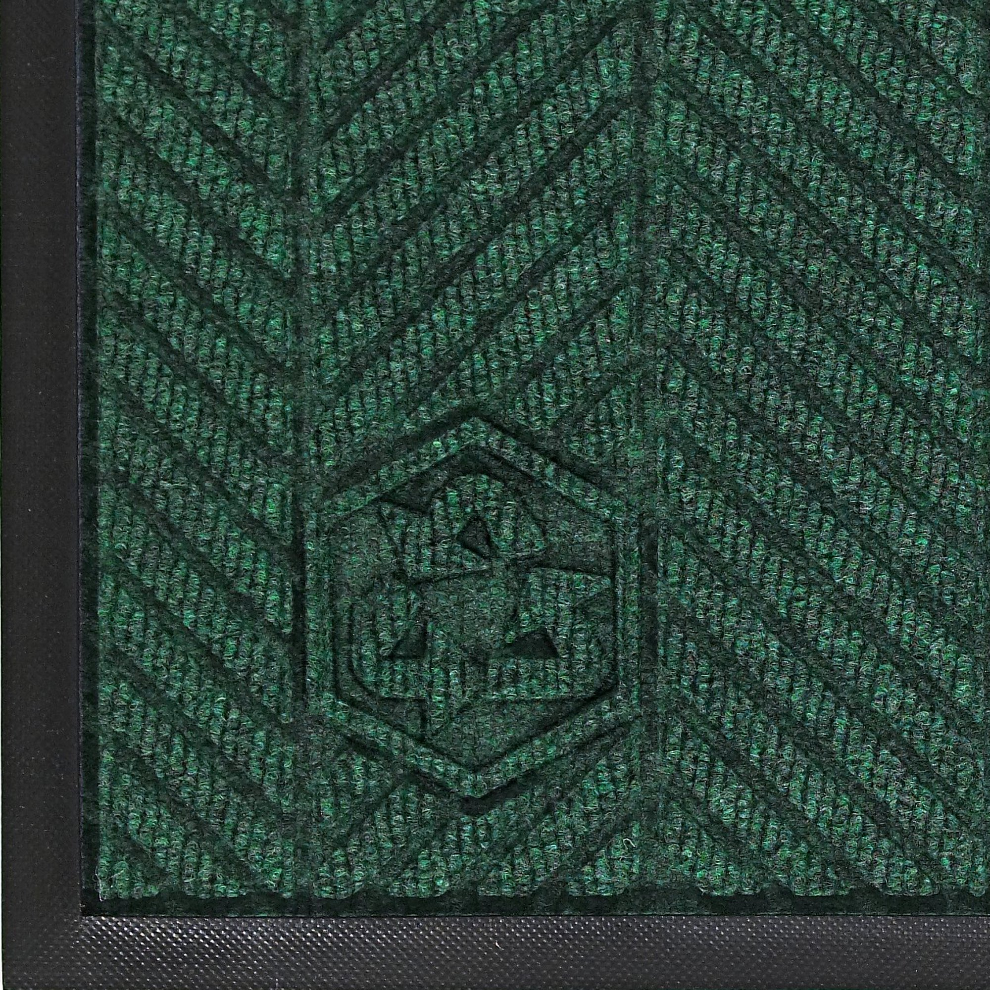 M+A Matting 2240 Waterhog Classic ECO Elite PET Polyester Entrance Indoor Floor Mat, SBR Rubber Backing, 3' Length x 2' Width, 3/8'' Thick, Southern Pine