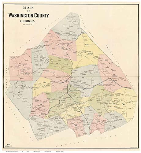 Washington Georgia Map.Amazon Com Washington County Georgia 1897 Wall Map With Homeowner