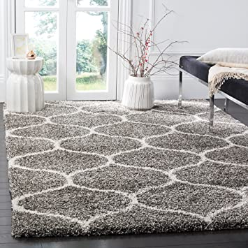 safavieh hudson shag collection sgh280b grey and ivory moroccan ogee plush square area rug 7