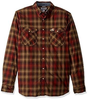 fffe94c45b8a0d Amazon.com: Carhartt Men's Big & Tall Rugged Flex Bozeman Long Sleeve Shirt:  Clothing