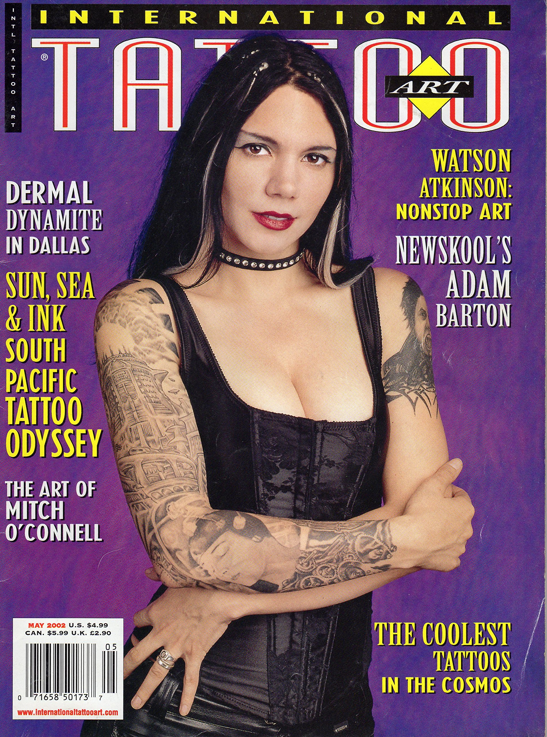 International Tattoo Art Magazine May 2002 Dermal Dynamite In Dallas South Pacific Tattoo Odyssey The Art Of Mitch O Connell Watson Atkinson Nonstop Art Newskool S Adam Barton Chris Pfouts Amazon Com Books