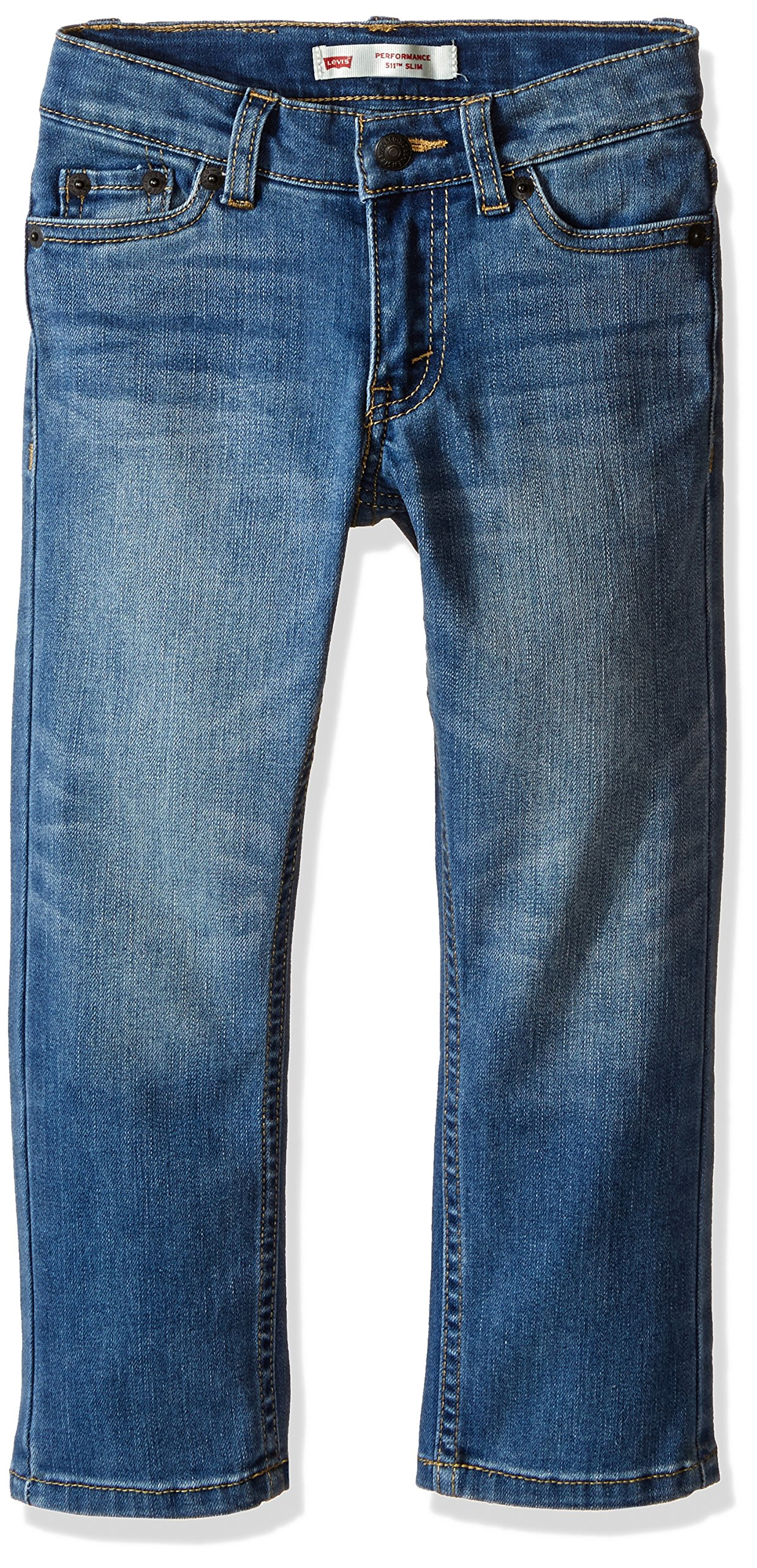 Levi's Boys' Big 511 Slim Fit Performance Jeans, Well Worn, 8