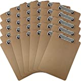 Trade Quest Letter Size Clipboard Low Profile Clip Hardboard (Pack of 30)