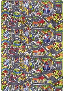 Kinder Teppich City Strassen Und Spiel Teppich 200x300 Cm Amazon