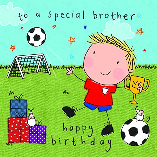 Twizler Happy Birthday Karte Für Brother Fußballspieler Mit