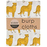 Milkbarn Organic Cotton Burp Cloths (2 pack) (Cheetah)