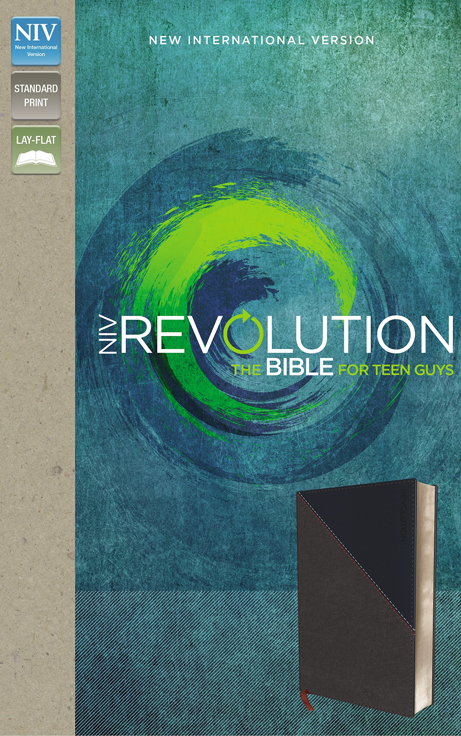 NIV Revolution Bible Leathersoft Gray Navy The Bible for Teen