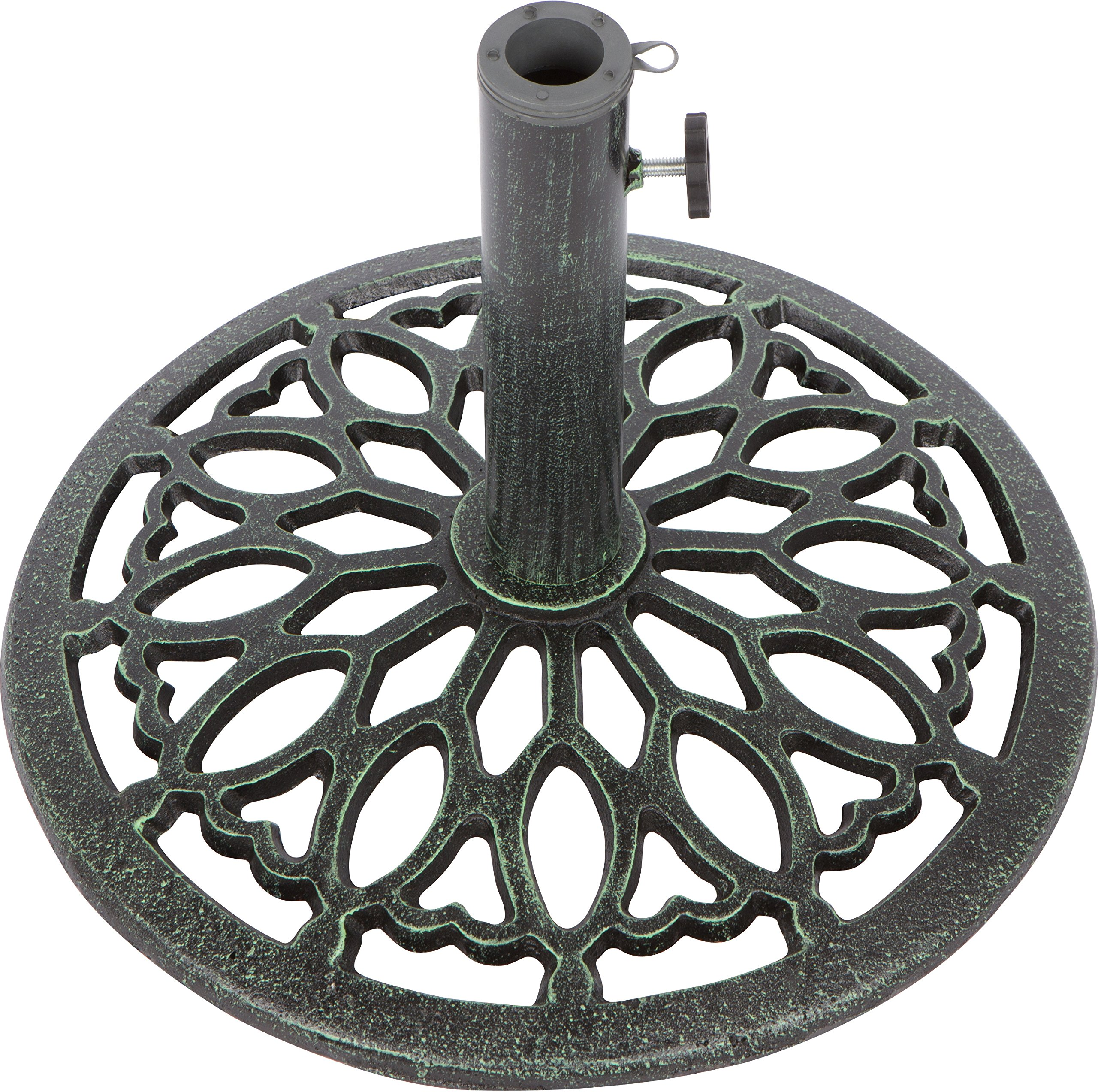 Trademark Innovations Cast Iron Umbrella Base -17.5 Inch Diameter (Green) by Trademark Innovations