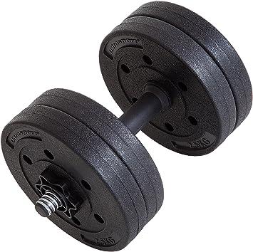 Ultrasport Juego de mancuernas de 10 kg, juego de curl