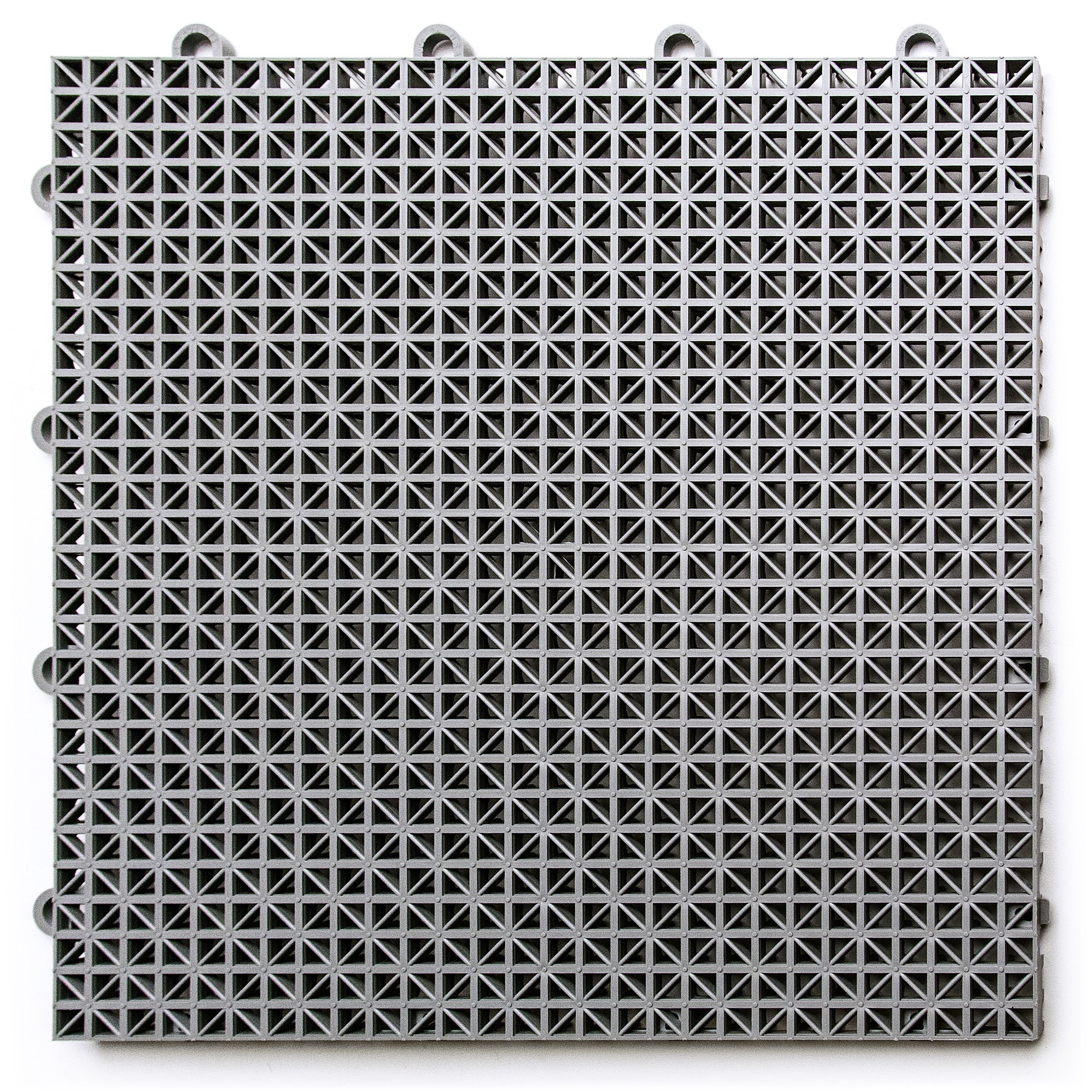 DuraGrid DT24GRAY Outdoor Modular Interlocking Multi-Use Deck Tile, 24 Pack, Gray, Piece