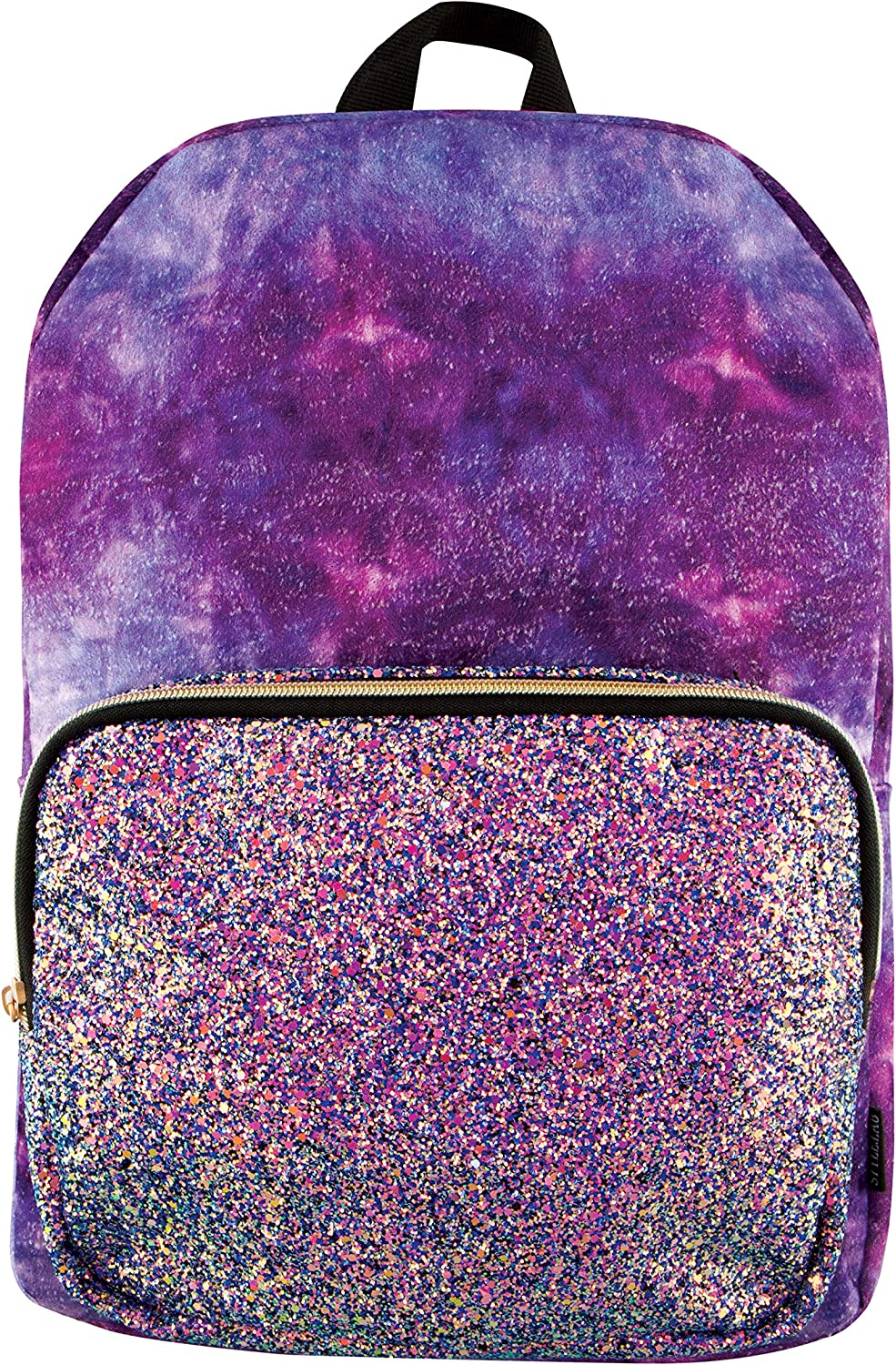 Style.Lab Fashion Angels Crushed Velvet Glitter Pocket Magic Sequin Backpack