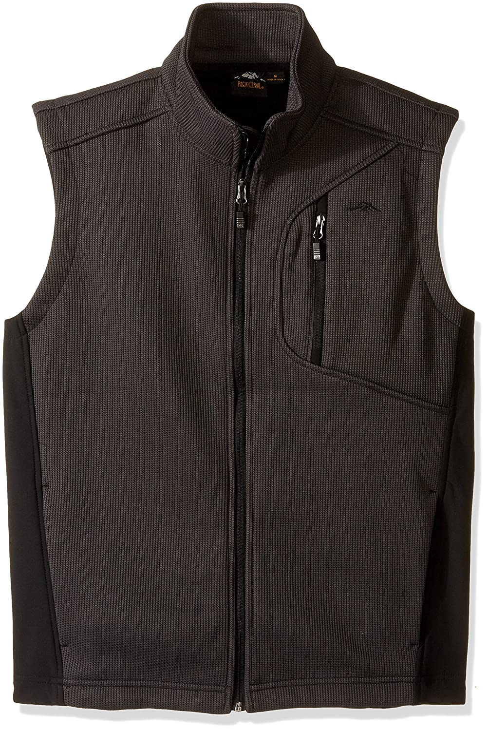 Pacific Trail Men's Sweater Knit Fleece Vest with Softshell Inserts Asphalt 2F5665A7