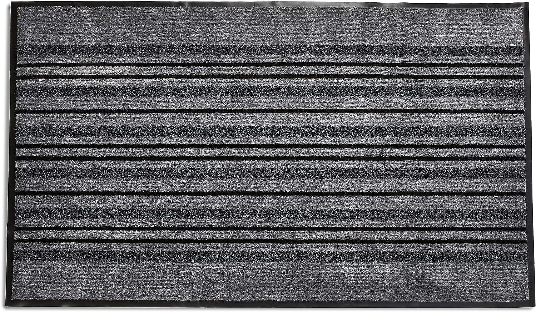 T/ürmatte mit Rasenstreifen-Design 90 x 120 cm f/ür den Innen- /& Au/ßenbereich Basics