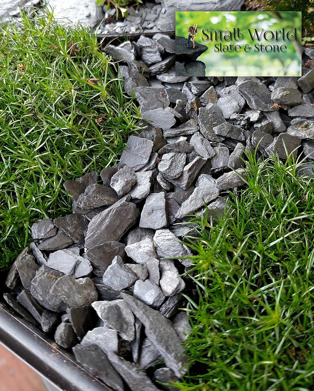 Miniature or Fairy Garden Natural Slate Stone 1 Model Railroad /& Wargaming 1//4 to 1//2 inch Slate Gravel for Aquascaping Aquariums Aquarium
