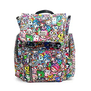 JuJuBe Be Sporty Backpack/Diaper Bag, Tokidoki Collection - Iconic 2.0