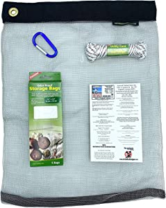 RATSACK Bundle - Ultralight Dry Bag for Backpacking- Bear Bag Food Storage for Camping- Backpacking Protection Mesh Bag from Critters- Coghlans Odor Proof and Waterproof Bag - Survival Utility Rope