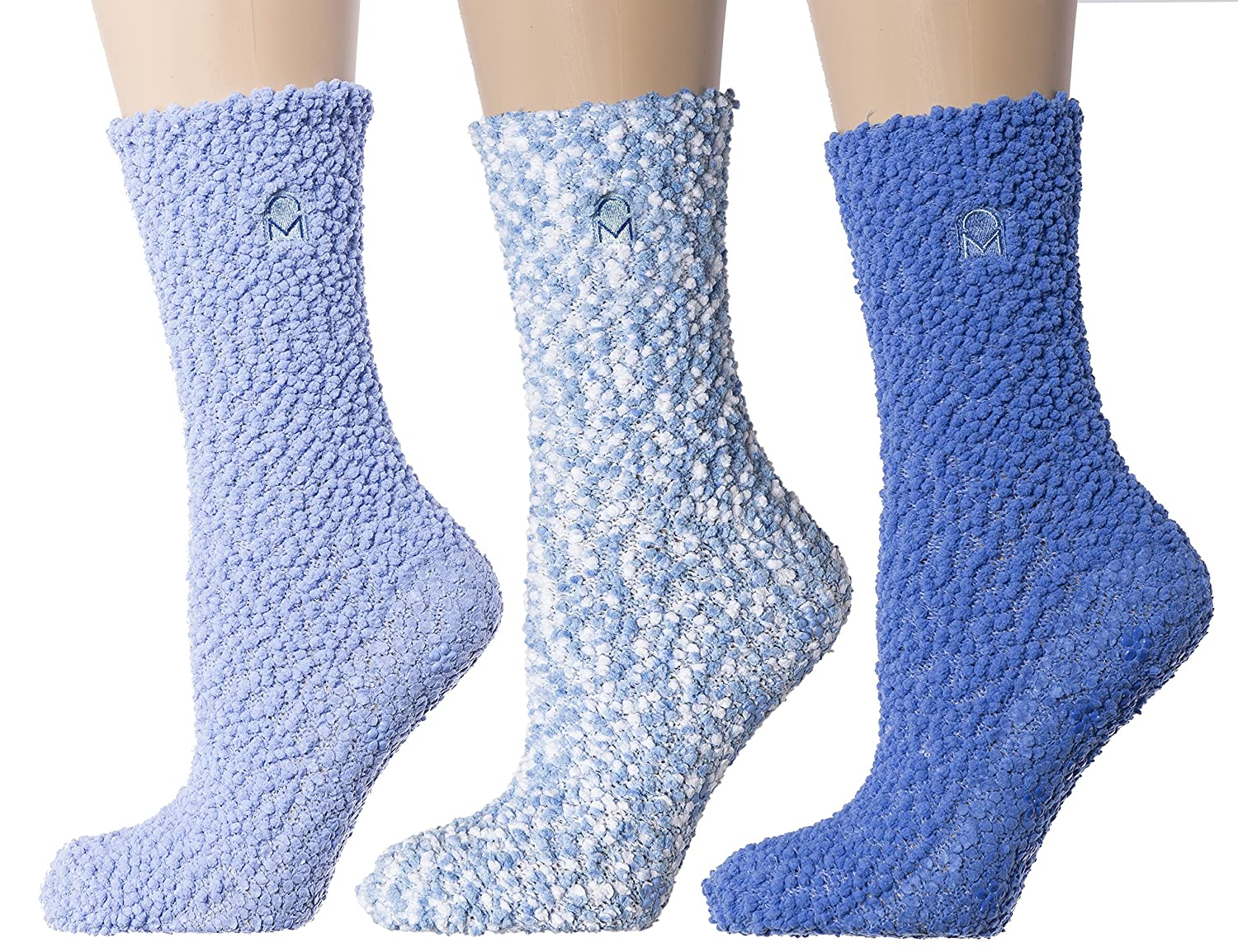 961fbf2e2 3-Pairs Womens Noble Mount Warm and Cozy Popcorn Yarn Winter Crew Socks -  Set A1 at Amazon Women s Clothing store