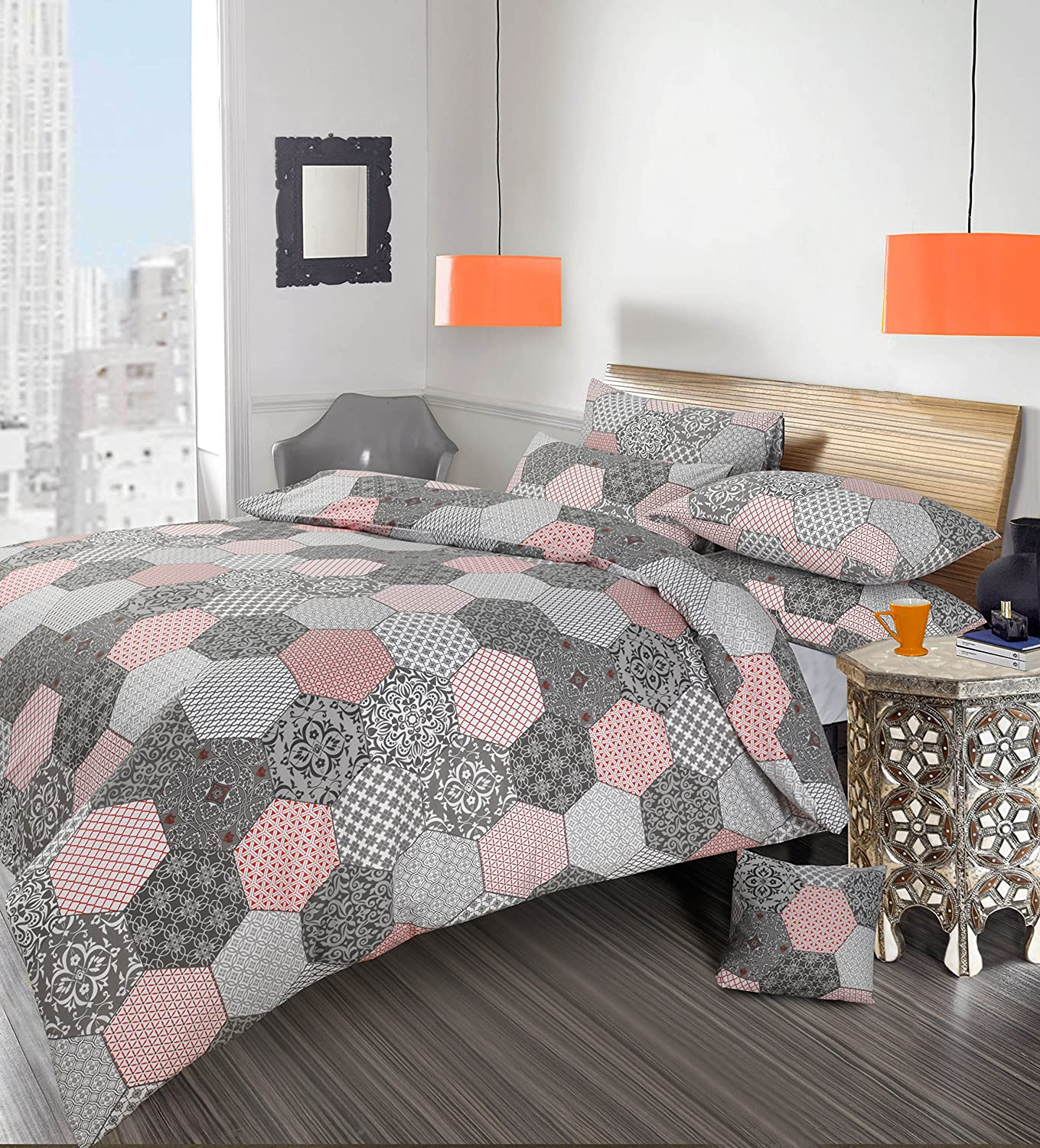 Pink And Grey Duvet Cover Sweetgalas