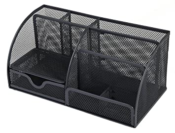 osco-organizer da scrivania, wiremesh, colore: carbone: amazon.it ... - Organizer Da Scrivania