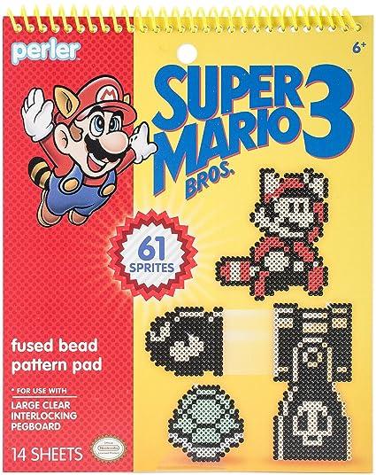 Amazon Perler Super Mario Bros 3 Fused Bead Pattern Pad Super