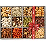 Gift Baskets, Mixed Nuts Gift Baskets and Seeds Holiday Gift Tray 12 Variety Gift Baskets, Freshly Roasted Snack Healthy Gift Box - Oh! Nuts (Holiday Gift Tray)