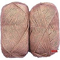Vardhman Knitting Wool, Pack of 2 (Brown) No.004