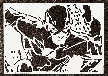 Póster The Flash Liga De La Justicia Grafiti Hecho A Mano - Handmade Street Art - Artwork