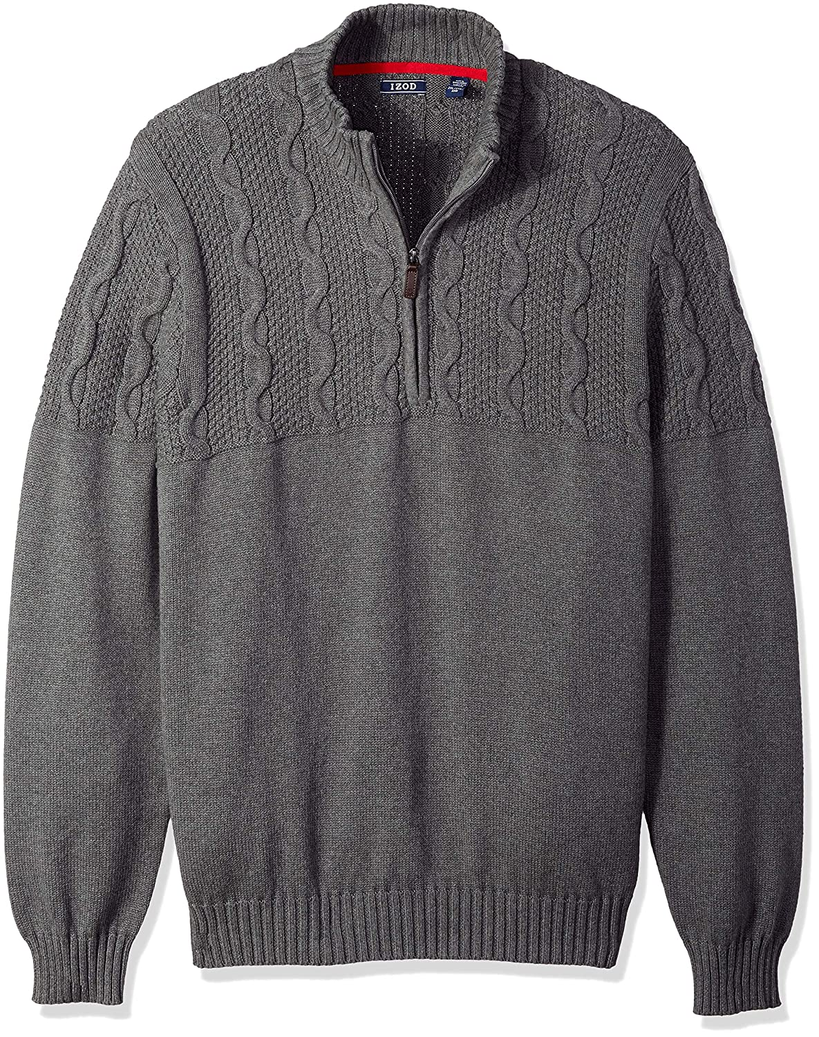 IZOD Men's Big and Tall Holiday 1/4 Zip Sweater, 45IS019