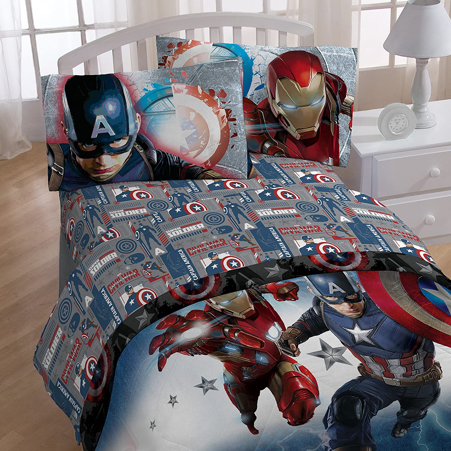 Spiderman and friends bedding - Marvel Captain America Civil War Twin 3 Piece Sheet Set