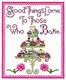 "DMC ""Good Things Come to Those Who Bake"" Cross Stitch Kit, 100 Percent Cotton, Multi-Colour"