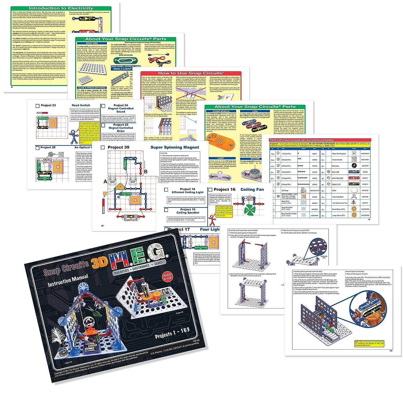 Elenco Snap Circuits 3d Meg Electronics Discovery Kit Games Motion Scm165 Amazon Canada