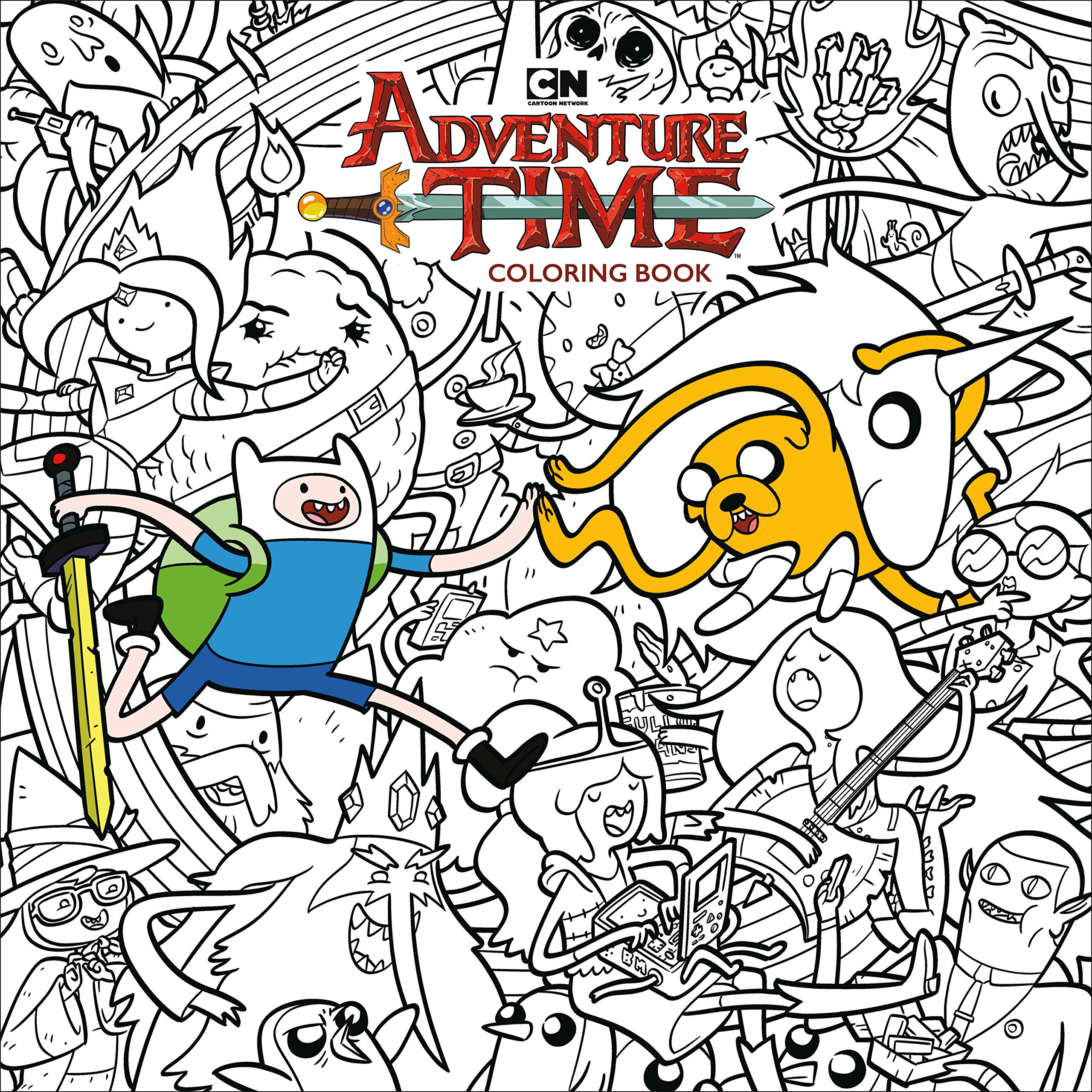- Amazon.com: Adventure Time Adult Coloring Book Volume 1