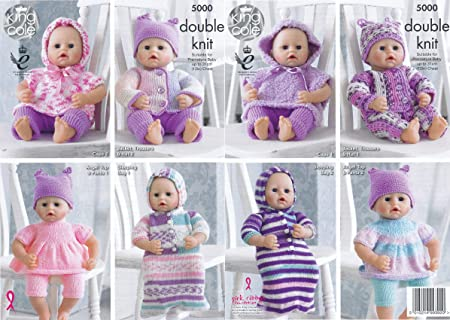 King Cole Doll Clothes Knitting Pattern 5000 Dk King Cole Amazon