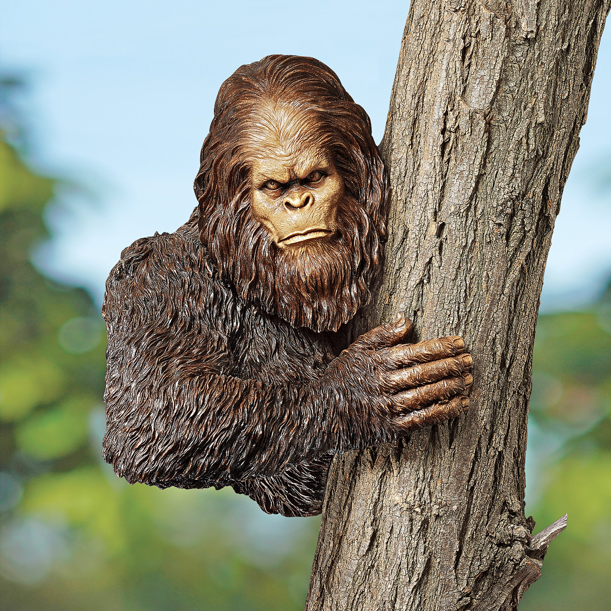 Design Toscano Bigfoot the Bashful Yeti Garden Tree Sculpture, 15 Inch, Polyresin, Full Color by Design Toscano (Image #6)